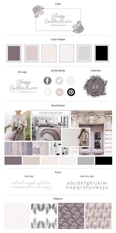 This Classy Collective Brand Board Template will help you create a stunning and upscale brand style in minutes. This is a Canva Brand Board Template! Fashion Branding, Branding Design, Logo Design, Branding Kit, Design Packaging, Business Branding, Luxury Branding, Template Web, Web Design