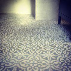 Hand made cement tiles - Voltaire Gravit, Marrakech Design Bathroom Floor Tiles, Tile Floor, Unique Tile, Moroccan Tiles, Decorative Tile, Scandinavian Interior, Beautiful Homes, Bathroom Inspo, Bathroom Ideas