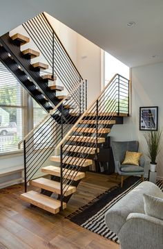 29 A Startling Fact about Stair Railing Ideas Uncovered House Stairs Fact Ideas Modern Stairs Fact House Ideas Railing Stair stairs Startling Uncovered Stair Railing Design, Home Stairs Design, Staircase Railings, Interior Stairs, House Design, Railing Ideas, Staircase Ideas, Bannister, Staircases