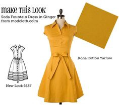 This site matches modcloth dresses with patterns and fabrics so you can make your own version. You should look at them (go to the Make This Look page).