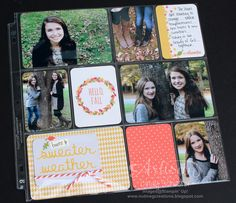 Project Life Seasonal Snapshot Fall page ~ Cindy Schuster