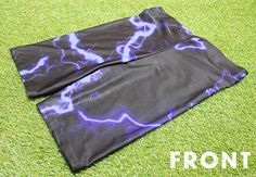 Purple Lightening Bolt Shorts