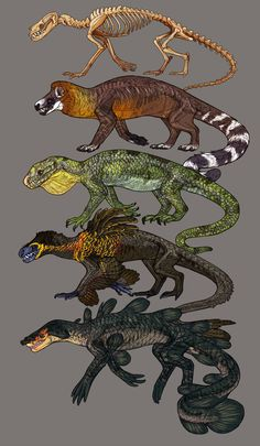 Concept art Bootcamp project 1 by Avian-king on DeviantArt Forest Creatures, Alien Creatures, Mythical Creatures, Creature Concept Art, Creature Design, Wolverine Art, Creature Drawings, Fantasy Races, Dinosaur Art