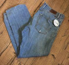 Lucky Brand Men's Sz 34x32 (35x32 act) 221 Original Straight Distressed Jeans L2 #LuckyBrand #221OriginalStraight