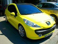 Peugeot rc sari folyo ile kaplandi  0212 286 48 46
