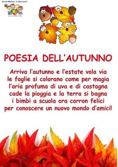 . Pre School, School Days, Middle School, Primary School, Italian Lessons, Autumn Cozy, Autumn Activities, Nursery Rhymes, Kids Learning