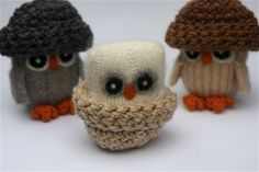 Adopt+all+three+Baby+Owls++angora+eco+wool+felt+owls+by+woolcrazy,+$58.00