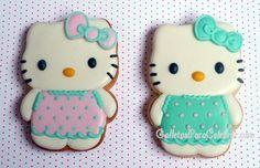 Galletas Hello Kitty con vestidos de verano