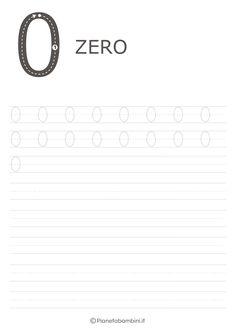Schede di Pregrafismo dei Numeri da 0 a 9 da Stampare | PianetaBambini.it Tracing Worksheets, Preschool Worksheets, Educational Programs, Ale, Children, Alphabet, Games, Winter Time, Young Children