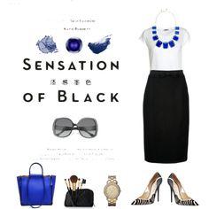 """black & blue"" by angela-fields on Polyvore"