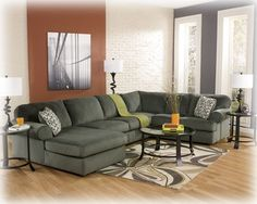 3980316-34-67 Jessa Place Left Arm Facing Chaise Pewter Sectional,$799.00