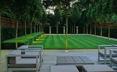Modern garden by Luciano Giubbilei Simple yet striking garden design.