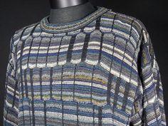 Croft & Barrow Cosby Sweater Mens Size Medium M Honeycomb Colorful Crewneck  #CroftBarrow #Crewneck