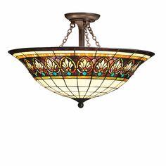 Kichler Lighting Provencia 3 Light Semi-Flush in Bronze 69050 | Lighting New York