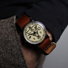 Very rare vintage wrist watch Masonic Vintage Watches For Men, Antique Watches, Luxury Watches For Men, Vintage Men, Expensive Watches For Men, Vintage Ideas, Vintage Bags, Vintage Colors, Masonic Watches