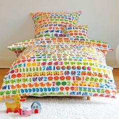 #design3000 Kinderbettwäsche-Set 1,2,3 von byGraziela - Bettbezug und Kissenbezug mit buntem Zahlen-Druck