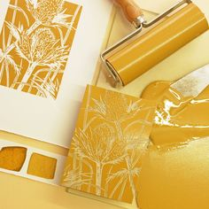 Meet printmaking duo Little Ram Studio 🐰article includes description of linocut process 🐰 Stamp Printing, Screen Printing, Alternative Kunst, Linocut Prints, Art Prints, Block Prints, Lino Art, Motif Art Deco, Stamp Carving