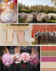 Soft colored bridesmaid dresses & mismatched groomsmen @ Raechael Barber I love this idea for all your colors, the mix matched dresses and stuff looks really neat! Mismatched Groomsmen, Mismatched Bridesmaid Dresses, Bridesmaids And Groomsmen, Wedding Colors, Wedding Styles, Wedding Photos, Bodas Shabby Chic, Wedding Posters, Wedding Shirts