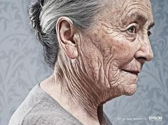 I see the character that age has built in the lines of elderly faces. I look at them and think they are beautiful.