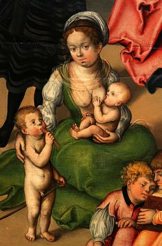 Cranach the Elder, Holy Kinship detail.