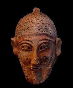 Fenicia. Tunis Masque carthaginois au musée nationale de Bardo. Føniker i Tunisia.