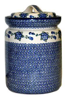 Polish Art Center - A Treasury of Polish Heritage Polish People, Ceramic Pottery, Pottery Art, Antique Stoneware, Pickle Jars, Blue And White China, Polish Pottery, China Patterns, Cookie Jars