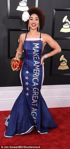 Singer Joy Villa makes a political statement at Grammys #dailymail