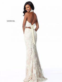 753294189380 Sherri Hill 51770 Lace Tie Back 2 Piece Prom Dress