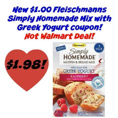 PRINT NOW!! Get a $1 Fleischmann's Simply Homemade Mix coupon to get a HOT deal on muffin and bread mix! Try the yummy raspberry!  Click the link below to get all of the details ► http://www.thecouponingcouple.com/fleischmanns-simply-homemade-mix-coupon-cheap-walmart/  #Coupons #Couponing #CouponCommunity  Visit us at http://www.thecouponingcouple.com for more great posts!