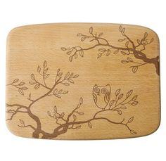 """Talisman Designs 11.5"""" Wood Owl Cheeseboard -"""