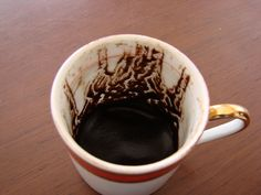 Fortune reading from Turkish coffee cup
