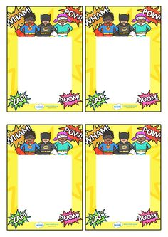 Twinkl Resources >> Editable Note From Teacher Superhero Themed  >>…