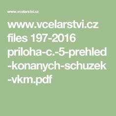 www.vcelarstvi.cz files 197-2016 priloha-c.-5-prehled-konanych-schuzek-vkm.pdf