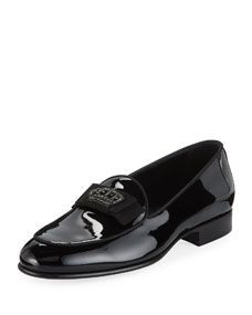 52f6f9aa55b Men s Patent Leather Crown-Applique Loafer