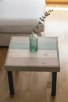 The Lack series from IKEA is beautifully simple, like a blank canvas, ready to be turned into a work of art! Be inspired by these 29 IKEA Lack table hacks. Lack Table Hack, Ikea Lack Hack, Ikea Lack Side Table, Ikea Makeover, Side Table Makeover, Furniture Makeover, Diy Furniture, Table Ronde Ikea, Ikea Table