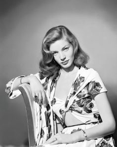 HISTORIFUL: Old Hollywood + Fashion + Lifestyle - Actress Lauren Bacall (b. 1924), date unknown.