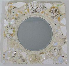 Wedding Whites Pique Assiette Mosaic by MelissasMotifsMosaic, $300.00  http://www.melissasmotif.com/Melissas%20Motif%20Pique%20Assiette%20Introduction.html