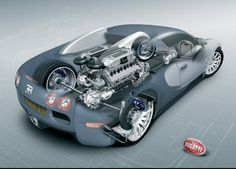 Bugatti Veyron features an quad-turbocharged, cylinder engine, equivalent to two narrow-angle engines. Bugatti Veyron Each bugatti cy. Luxury Sports Cars, Fast Sports Cars, Fast Cars, Sport Cars, Motor Sport, Bugatti Veyron, Bugatti Cars, Bugatti Wallpapers, Car Wallpapers
