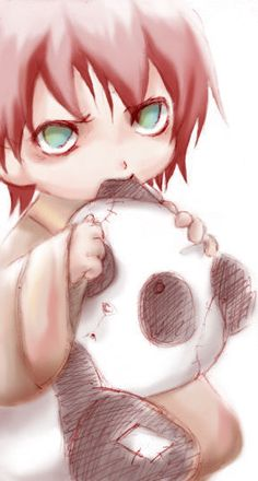 Naruto - Baby Gaara with Panda! Couldn't have asked for more <3