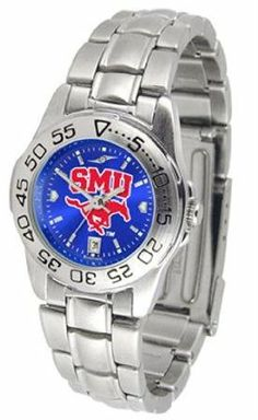 Southern Methodist Mustangs SMU NCAA Womens Anochrome Watch by SunTime. $64.95. Officially Licensed Southern Methodist University SMU Mustangs Ladies Stainless Steel Dress Watch. Women. Links Make Watch Adjustable. Stainless Steel-Scratch Resistant Crystal. AnoChrome Dial Enhances Team Logo And Overall Look. This beautiful eye-catching Ladies Sport AnoChrome Watch With Steel Band comes with a stainless steel link bracelet band. A date calendar function plus a rotati...