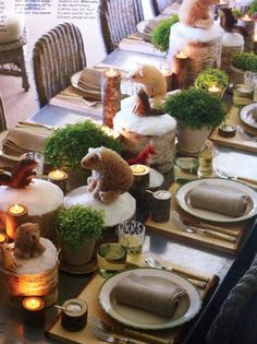 Cute holiday table styling by Martha Stewart