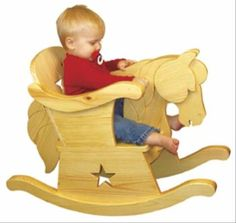 19-W3153 - Infant Rocking Horse Chair Woodworking Plan.