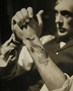 Gary Cooper, 1930s.  Is that a real tattoo?