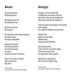 Naar aanleiding van ruziënde leerlingen geschreven gedichtjes