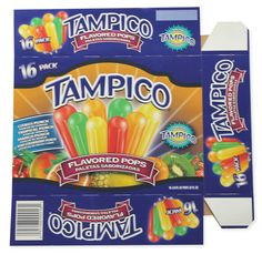 Tampico Pops Packaging Flat by Brian Smith, via Behance