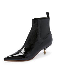 VIVIENNE WESTWOOD Black Winkle Picker Chelsea Boots. #viviennewestwood #shoes #