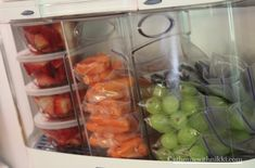 "From ""At Home With Nikki"" fridge organization. She pre-packages fruits and veggies in grab and go sizes. From At Home With Nikki fridge organization. She pre-packages fruits and veggies in grab and go sizes. Refrigerator Organization, Kitchen Organisation, Household Organization, Home Organization Hacks, Organizing Your Home, Organized Fridge, Organizing Tips, Healthy Fridge, Healthy Eating"