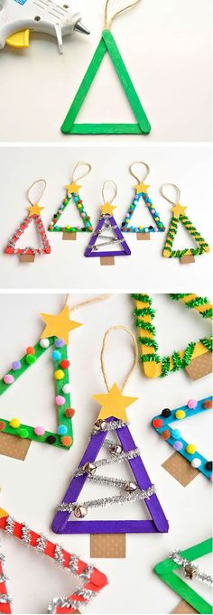 54 Simple and cheap Christmas decoration! – Decoration of … - Christmas Decorations Cheap Christmas, Christmas Crafts For Kids, Simple Christmas, Kids Christmas, Holiday Crafts, Christmas Ornaments, Christmas Gifts, Christmas Trees, Navidad Simple