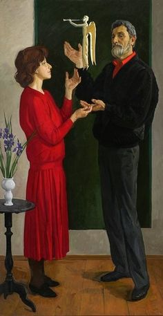 Russian Painting, Russian Art, Illustrations, Illustration Art, Art Database, Sculpture, Couple Art, New People, Female Portrait