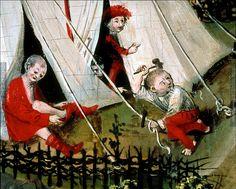 montujemy namioty - 1489 ; 1492 ; Klosterneuburg ; Österreich ; Niederösterreich ; Stiftsmuseum